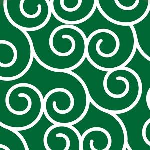 打ち明け話を象徴する唐草模様の画