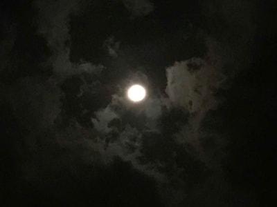 iPhone(7plus)で撮影した月の写真