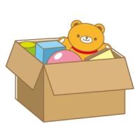 引っ越し荷物が入った段ボール箱