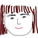 眉毛がしょぼしょぼで下向きに生えているSunの自画像