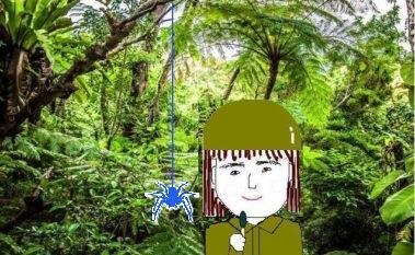 ジャングルから中継するゲテモノ食いレポーターSunの画