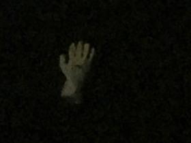 夜の波間に浮かぶ右手