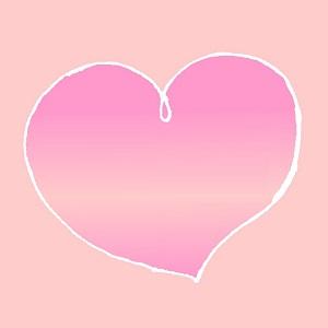 恋をイメージするハートの画像