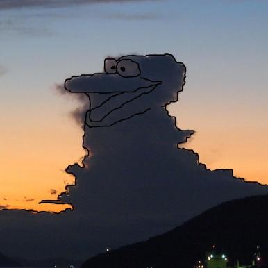 リベンジ版笑みを浮かべる怪獣の写真