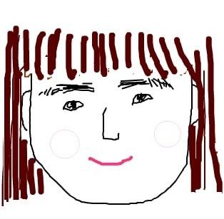 眉尻が見事に真下に向かって生えているSunの眉毛の画