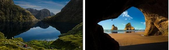 「Windows スポットライト」で表示される目を見張るばかりの美しい風景、美しい画像。