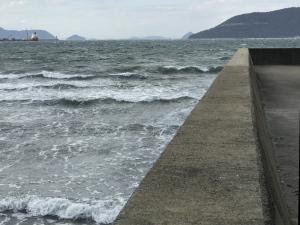 海のすぐ近くで撮影した写真